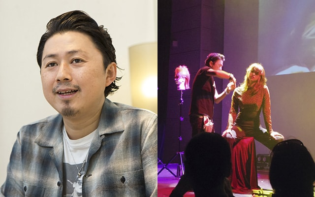 ステージ上の桜井さん