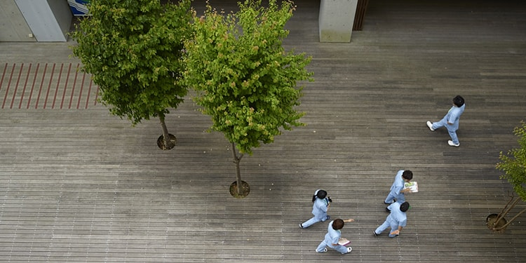 明るい校風ときれいな校舎はモチベーションアップに繋がる 神奈川衛生学園専門学校